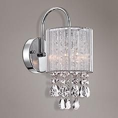 Chic sophisticate crystal torch wall sconce pinterest polished chic sophisticate crystal torch wall sconce pinterest polished nickel torches and wall sconces aloadofball Images