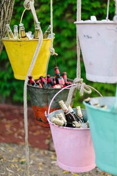 mariage maison ides top 14 must see rustic wedding ideas for 2019 rustic wedding decorations of hanging glasses with burlap spring weddings diy wedding decors on a budget garden weddings Home Wedding, Garden Wedding, Diy Wedding, Rustic Wedding, Wedding Ideas, Wedding Colors, Rustic Garden Party, Trendy Wedding, Deco Champetre