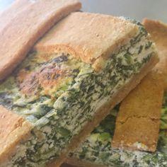 Crostata integrale con biete,  spinaci e ricotta .... box lunch