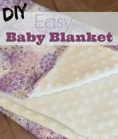 DIY Easy Baby Blanket Tutorial; perfect project for any age or ability #sewing .jpg