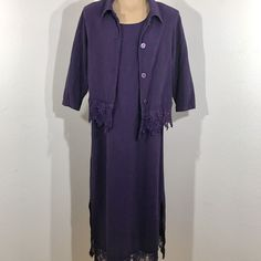 Vintage 1980s Purple 2 Piece Dress And Shrug With Lace Accents Size Small | Clothing, Shoes & Accessories, Vintage, Women's Vintage Clothing | eBay!