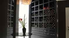 good wine storage with minimised shelving to bottle ratio!