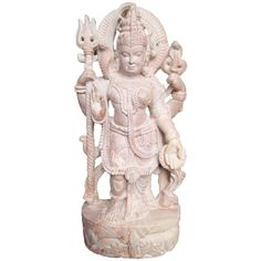 "Decorative 8"" Hand Carved Sculpture Shiva Parvati Ardhnarishwar Stone... (18,535 INR) via Polyvore featuring home, home decor, stone statues, stone home decor, stone sculpture and hand carved statues"
