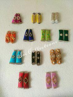 Hair clips made in silk thread