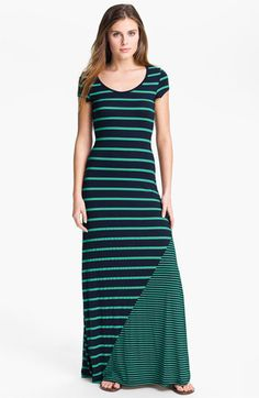Everleigh Multi Stripe Short Sleeve Maxi Dress available at #Nordstrom