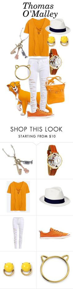 """""""Thomas O'Malley"""" by samosaurus2014 ❤ liked on Polyvore featuring Sweet Romance, Whimsical Watches, Zara, Old Navy, Reef, Stella & Dot, Bling Jewelry and Parinda"""