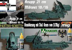 Shortys Werkbank: Workbench-TAKOM-Krupp 21 cm Mörser-Painting!-Schri...