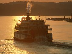 Cruise down the Mississippi River in a classic steamboat.
