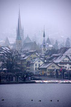 City in mist (Zug, Switzerland) | Flickr - Photo Sharing!