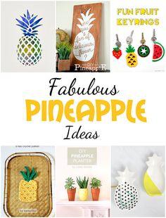 Trends: Pineapple, Pineapple, Pineapple! @ Crafting in the Rain #pineapple #fruit