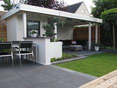 Jan de Boer Tuinhuizen| fotoboek voorbeeld van grijze tegels en terras