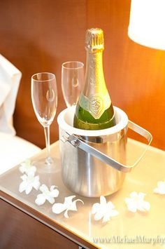 Champagne in-room for the Bride & Groom!