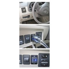 free shipping new Car 2.1A Dual USB Port Socket Cell Phone Charger + Audio Input For Mazda
