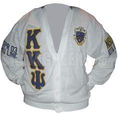 Custom Kappa Kappa Psi Cardigan Sweater  Item Id: CUS-KKY-CSR  Price:  $129.00 Fraternity Shirts, Sorority And Fraternity, Kappa Kappa Psi, Greek Gear, Sorority Outfits, Red Deer, Greek Clothing, Greek Life