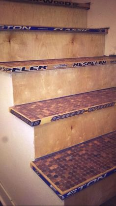 Hockey stick stairs! I will have these!