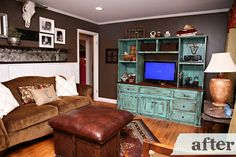 what the turquoise entertainment center?! :)