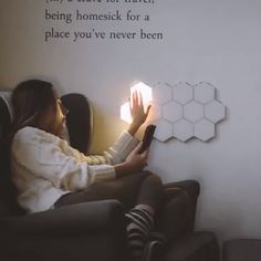 Lampe tactile (Modular Touch Lights) Modular touch lights Modular touch hexagonal mosaic lamp with n Lampe Tactile, Touch Lamp, Perfect Gift For Her, Room Lights, My New Room, Lamp Design, Shirt Designs, House Design, How To Plan