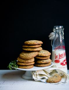 Desserts for Breakfast: Sea Salt and Thyme Chocolate Chunk Cookies