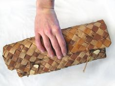 Birch Bark Clutch purse