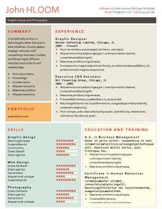 Grid   Free Resume Template