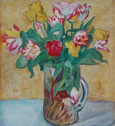 Vase de fleurs.  Louis Valtat