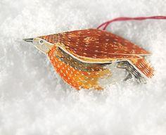 ON SALE Christmas Tree Ornament Bird Ornament by RiciclettaShop