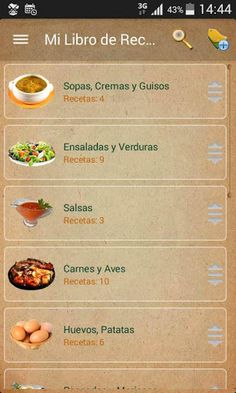 The ultimate application to manage all your recipes.(Recipe Organiser)<br>· <br>The operation of the application is very simple and intuitive, no complicated data entry screens or foreign concepts to learn. <br>· <br>Preferences set by the size most appro