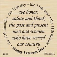 Amazon.com: Veterans Day Greeting Rubber Stamp By DRS Designs: Arts, Crafts & Sewing