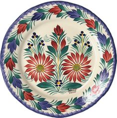 QUIMPER FLUTED PLATE
