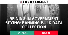 Reining in Big Brother: Should Bulk Data Collection be Removed from Government Surveillance Tactics? #GovernmentSpying #BulkDataCollection #Privacy #CyberSecurity #Defense #Government #Politics #Countable