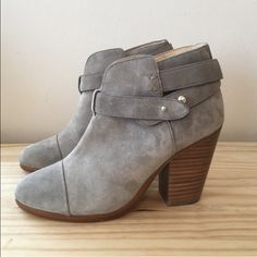 Bundle of rag and bone boots for @siann2186 Gray suede Harrow boots, size 37. Black leather Newbury boots, size 36.5. Pre-owned. No box or dust bag. rag & bone Shoes Ankle Boots & Booties