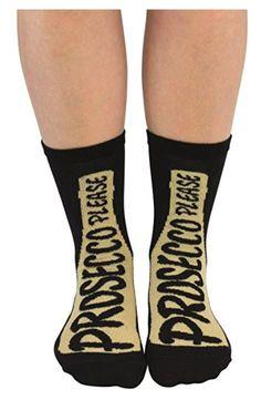Cockney Spaniel Ladies Novelty Prosecco Socks