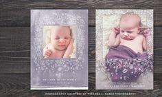 Watercolor Floral Newborn Birth Announcement Template