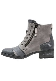 Korte laarzen - schwarz/grau