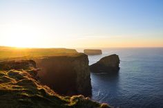 Kilkee Cliffs (Ireland). 'Jaw-dropping views of soaring cliffs that aren't the Cliffs of Moher.' http://www.lonelyplanet.com/ireland/county-clare/kilkee