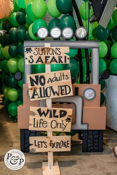 Posted by Priceless Event Planning, LLC - A Event Planner Birthday Party Checklist, Boys First Birthday Party Ideas, Wild One Birthday Party, 1st Boy Birthday, Boy Birthday Parties, Safari Theme Birthday, Jungle Theme Parties, Safari Birthday Party, Deco Ballon