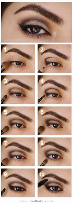 Makeup Ideas For Prom - Intense Metallic Smokey Eye Tutorial - These Are The Bes. Makeup Ideas For Prom - Intense Metallic Smokey Eye Tutorial - These Are The Best Makeup Ideas For Prom and Ho Eyeshadow Tutorial For Beginners, Smokey Eye Makeup Tutorial, Eye Makeup Steps, Eye Tutorial, Eyeshadow Tutorials, Cut Crease Tutorial, Eyeliner Tutorial, Beginners Eye Makeup, Smokey Eye Anleitung