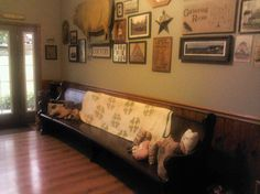 My Entry Room - Refinished Old Church Pew - Wall Is A Work In Progress
