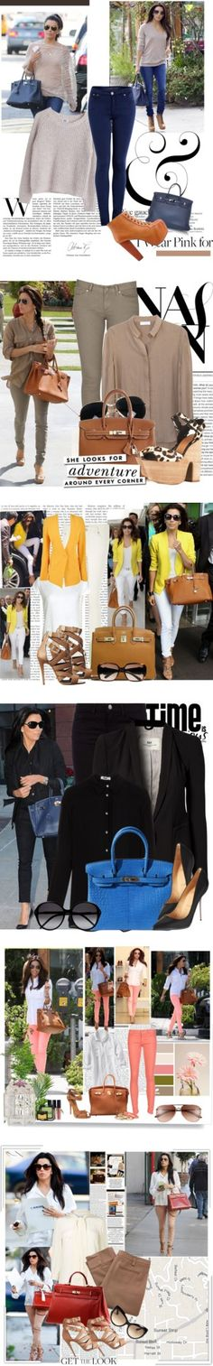"""Eva Longoria's Arm Candy: An Hermès Bag for Every Day"" by polyvore-editorial ❤ liked on Polyvore"