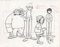 By Jamie Hewlett Gorillaz - Illustration Gorillaz Art Style, Gorillaz Fan Art, Damon Albarn, Tank Girl, Cartoon Sketches, Cartoon Styles, Jamie Hewlett Art, Blur, Monkeys Band