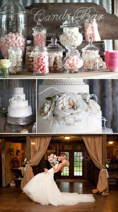 """Love the Candy bar in the wedding colors. From """"Love and Lavender"""" blog"""