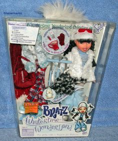 2003 Bratz JADE Wintertime Wonderland Collection Doll Girl Dolls, Barbie Dolls, Bratz Doll Halloween Costume, Dc Superhero Girls Dolls, Brat Doll, Bratz Girls, Old Toys, Toy Boxes, Winter Time