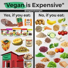 Being vegan is NOT expensive. Nice try, but we all know that's just another excuse! @vegainstrength via Instagram