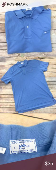 Southern Tide Skipjack Polo Cotton Pique Large Very good used condition.  Smoke free home 🏡 Southern Tide Shirts Polos