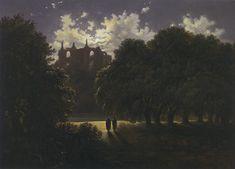 Schloss im Mondschein - Carl Gustav Carus