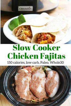 Slow Cooker Chicken Fajitas | Slender Kitchen