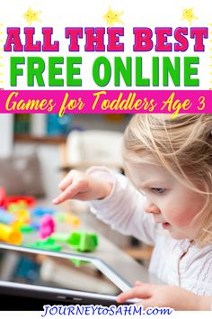 Finding free online games for toddlers age 3 can be a challenge, especially when trying to find age-appropriate. Even when looking at just age 3, educational abilities range from wanting to play space bar games or press any key games to almost 4 years old and being able to move the mouse around. | Journey to SAHM @journeytosahm #toddlergames #onlinegamesfortoddlers #educationalgamesfortoddlers #fungamesfortoddlers #onlineeducationalgamesfor toddlers #computergamesfortoddlers #journeytosahm Toddler Games Online, Fun Games For Toddlers, Educational Activities For Toddlers, Activities For 2 Year Olds, Rainy Day Activities, Parenting Toddlers, Summer Activities For Kids, Online Games, Learning Activities