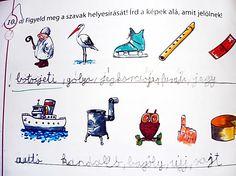 Illusztrációnk egy kitöltött általános iskolai feladatlap