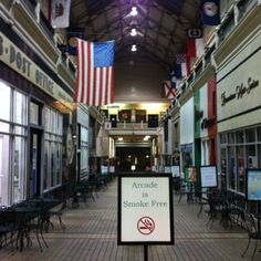 The Arcade before Nashville gets up.  There's still no smoking, either! ;-)