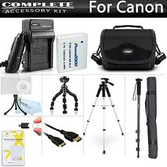 All In Accessory Kit For Canon PowerShot SX500 IS SX510 HS SX520 HS SX530 HS Digital Camera Includes Extended 1200mAh Replacement NB6L Battery  AcDc Travel Charger  Deluxe Case  Mini HDMI Cable  57 Tripod  67 Monopod  Screen Protectors  More ** You can get additional details at the image link. This is Amazon affiliate link.